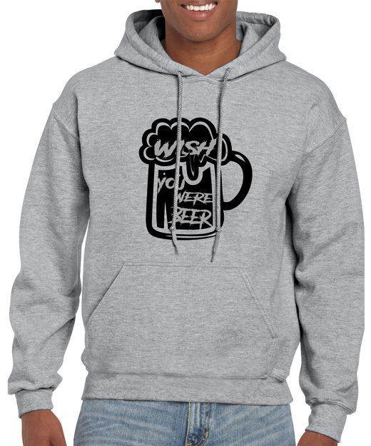 Wish You Were Beer Hoodie Mockup
